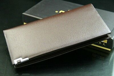 Mens Long Lines Casual Leather Wallet Pockets Card Clutch Cente Bifold Purse New