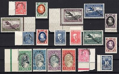 Albania MNH collection from 1925-1928 - Imprints - Corners etc. (75)