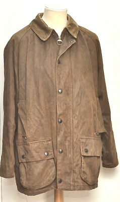 Great Men Weather Worked Beaufort Barbour Jacket Size Large Brown
