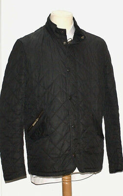 Great Men Barbour Chelsea Sportsquilt Jacket Size S Navy