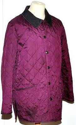 Men's Barbour Liddesdale Quilted Jacket Size Uk M Purple