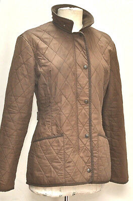 Great Women Barbour Soft Duracotton Polarquilt Jacket Size 10 Brown