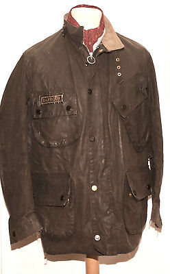 Great Vintage Men Barbour A7 International Suit Jacket C40 / 102 Cm Black