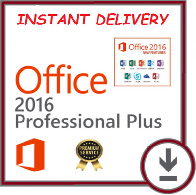 Instant Microsoft Office 2016 Pro Professional Plus 32/64 Bit Product Key