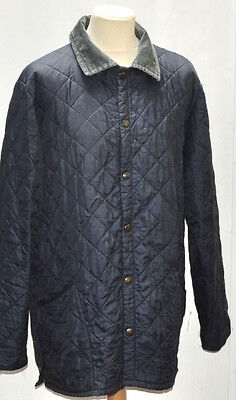 Vintage Mens Barbour Liddesdale Quilted Jacket Extra Extra Large Blue