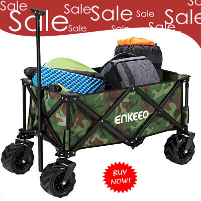 Foldable Utility Wagon Sports Outdoor Cart Camping Beach Sporting Concerts Orang