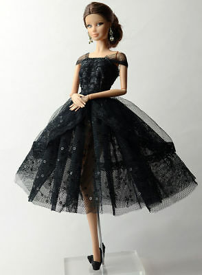 Lovely Fashion Black Dress/Clothes/Ballet Dress For 11.5in.Doll Y535U