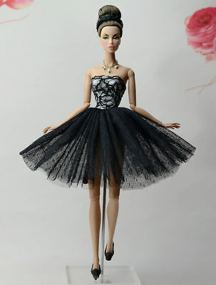Lovely Fashion Black Dress/Clothes/Ballet Dress For 11.5in.Doll Y532U