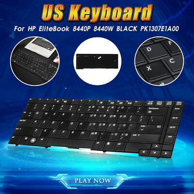 US Keyboard For HP EliteBook 8440P 8440W PK1307E1A00 Laptop Notebook PC