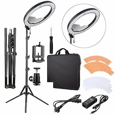 Ring Light REACHSHOT ES240 Kit, {Inc. Light, Stand, Mirror, Bag, Bracket} 18""