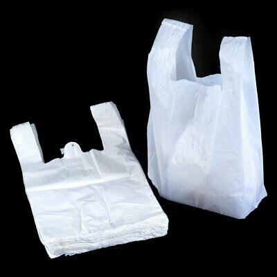 Hi Tensile White Vest Carrier Bags - 8x12.5x16 - 2000 Pack (shop/carriers/bag)