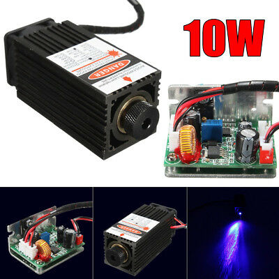 10W 450nm Laser Head Engraving Module Diode Metal Wood Cut Marking For Engraver