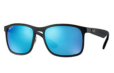422705582b Sunglasses Ray-Ban RB4264 601SA1 BLACK MATT MIRROR BLUE POLARIZED CHROMANCE