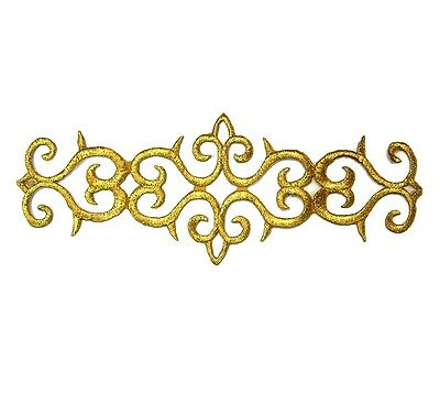 Gold Applique Iron On Embroidery #45 Aust Seller Tutu Dance Stage Costume Trim