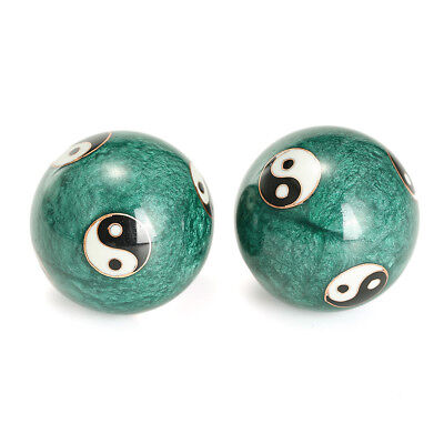 Musical chinois santé exercice Stress thérapie Baoding boules Ying Yang vert <br