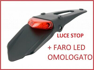 Portatarga Racing Fanale Led Omologato Enduro Cross Motard Trial Universale