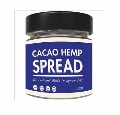 6 x 200g THE HEALTH FOOD GUYS  Cacao Hemp Spread ( total 1.2kg )