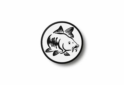 Patch badge insigne ecusson brode imprime thermocollant poisson pêche canne sac