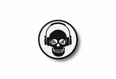 Patch badge insigne ecusson brode imprime thermocollant dj platine disque sac A