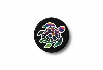 Patch badge insigne ecusson brode imprime thermocollant tortue tribal plongeur
