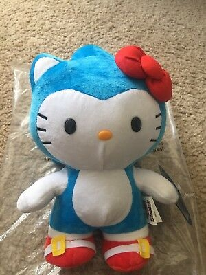 """Hello Kitty Sonic The Hedgehog 10"""" Deluxe Plush"""
