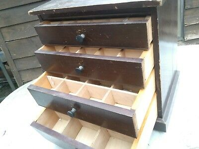 VINTAGE COLLECTORS/SPECIMEN birds egg CABINET - 4 DRAWERS
