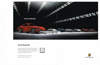 "2012 PORSCHE Red 911 ""For The 7th Time"" Centerfold Advertisement"