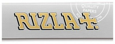 Rizla Silver Single Ultra Thin Smoking Cigarette Tobacco Rolling 50 Papers Pack