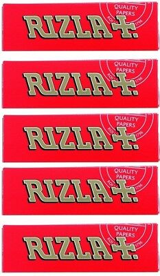 Rizla Red Single Medium Weight Smoking Cigarette Tobacco Rolling Papers 5 Packs