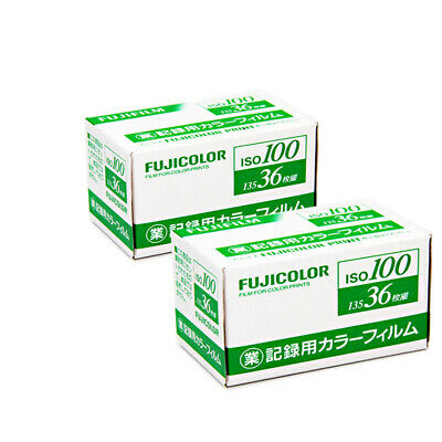 2 Rolls Fuji Fujifilm Industrial 100 Business 100 135-36EXP Color Negative 2021