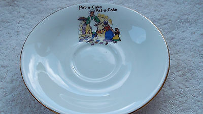 China Saucer For A Child  Pat-A-Cake Pat-A-Cake To Edge   No Maker
