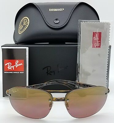 9364398e08 NEW Rayban sunglasses RB4275CH 710 6B 63mm Tortoise Purple Mirror Chromance  4275