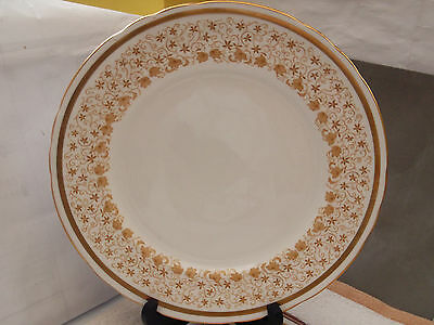 1936+ New Chelsea China Dinner Plate With A Gold / Brown Floral Pattern
