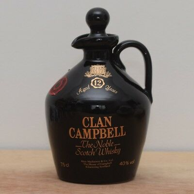 75cl Clan Campbell 12 Year Whisky/Whiskey Jug/Decanter. Man Cave, Bar, Pub, Cool