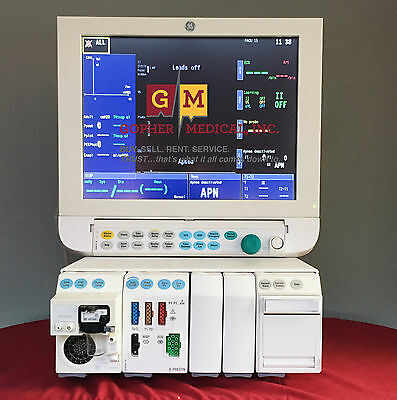 GE Datex Ohmeda S/5 Anesthesia Monitor E-Series Modules 5 Agent warranty
