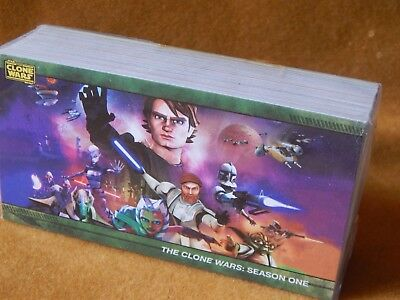 Full Set Of Star Wars The Clone Wars Season One Trading Cards Topps Widescreen