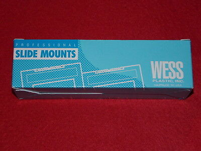 BOX OF 50 WESS PROFESSIONAL SLIDE MOUNTS - 5 X 5cm (2 X 2 in) - GLASSLESS