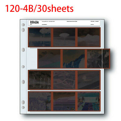 Archival Storage Holder Print File 120-4B 30 Shts for 120 Film Photo Pages Sheet