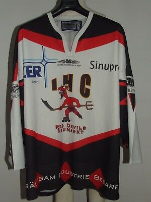MAILLOT T-SHIRT maillot ICE HOCKEY GLACE SPORT RED DEVILS NEUMARKT n °24