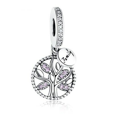 Purple Family Tree Heritage Dangle Charm Genuine Sterling Silver 925 791728 NEW
