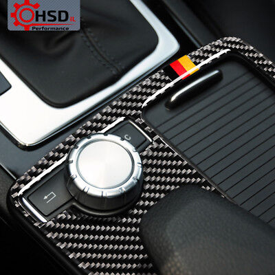 Carbon Fiber Multimedia Handrest Panel Trim For Mercedes W204 W212 C / E Class