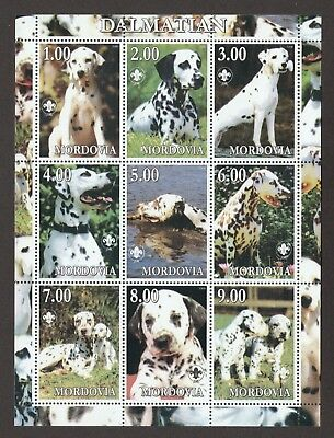 DALMATIAN ** Int'l Dog Postage Stamp Sheet  **Great Gift Idea**