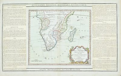 1786 Southern Africa and Madagascar Louis Charles Desnos Antique Map