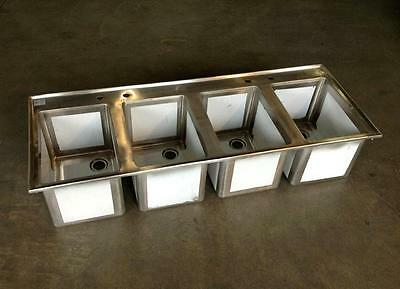 Stainless Steel 4 Bowl Drop In Bar Sink