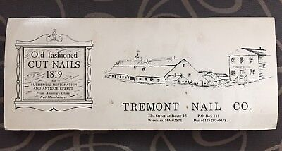 """History Of Cut Nails In America"" By Tremont Nail Company Samples Of Cut Nails"