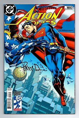 Superman Action Comics #1000 70's Steranko Variant Signed Paul Dini W/ Coa Dc