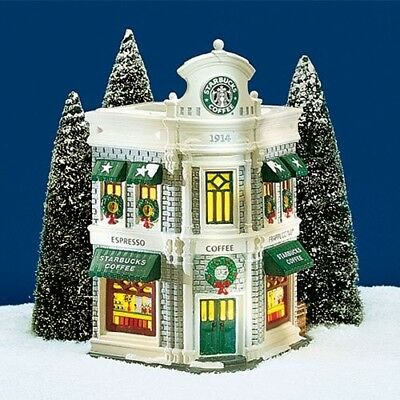 """Dept. 56 Snow Village  """"Starbucks Coffee"""" 1995 ISSUES Mint Condition, Collector'"""