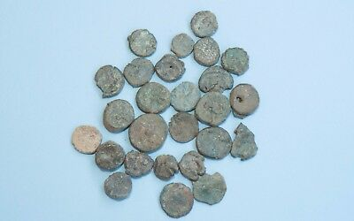 Lot of 27 Roman or Byzantine Small Coins Nummus 3034H
