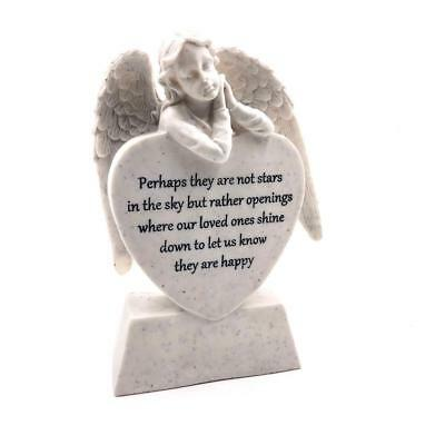 Thoughts Of You Cherub Angel Graveside Memorial Ornament 61985-P UK DISPATCH
