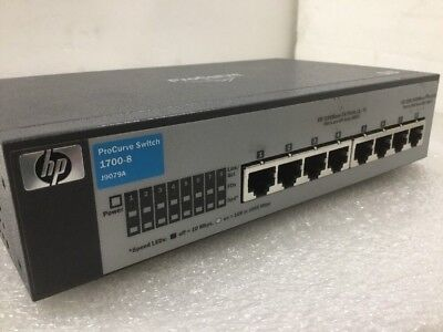 HP ProCurve J9079A 1700-8 External Switch Managed 10/100/1000 w/ AC adapter